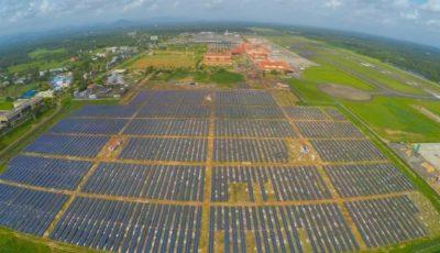 اولین فرودگاه خورشیدی جهان در هند