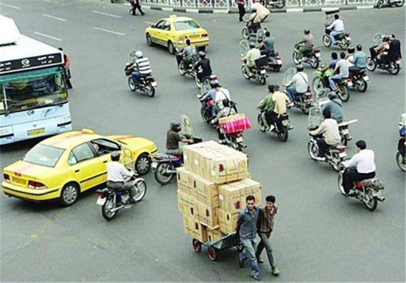 تردد ۲ میلیون و ۳۰۰ هزار موتور سیکلت در تهران