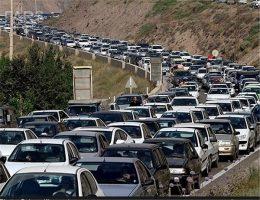 ترافیک  سنگین در محور کرج – چالوس