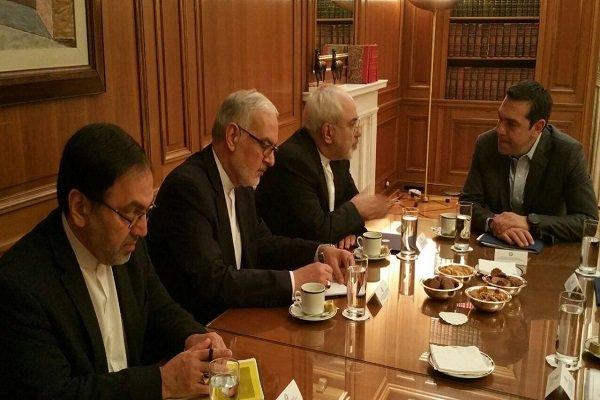 محمد جواد ظریف با نخستوزیر یونان دیدار کرد