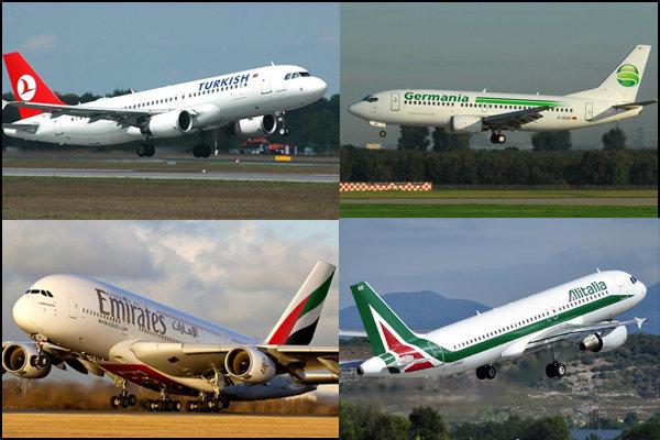رقابت ۴۸ شرکت هواپیمایی خارجی در بازار هوانوردی ایران