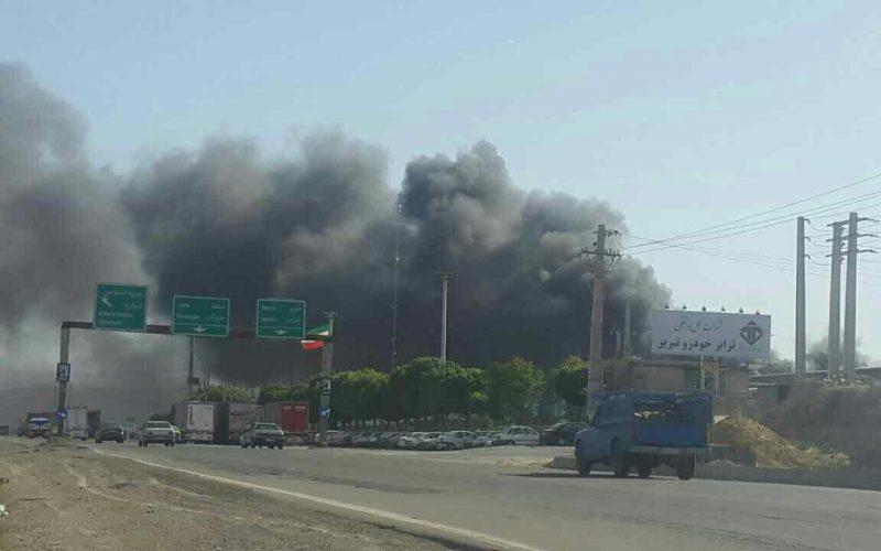 آتشسوزی ایران خودرو تبریز بدون تلفات جانی کنترل شد