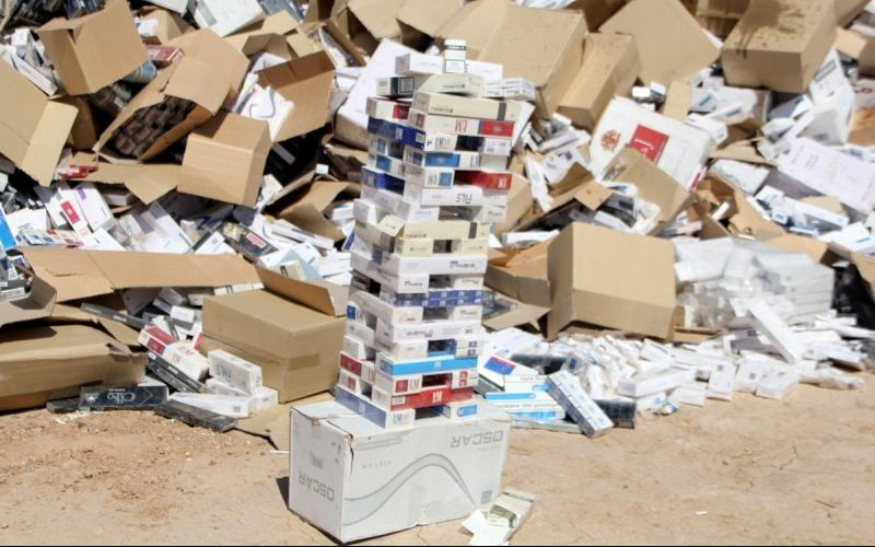 کشف ۴۰۰ هزار نخ سیگار قاچاق در کرمانشاه