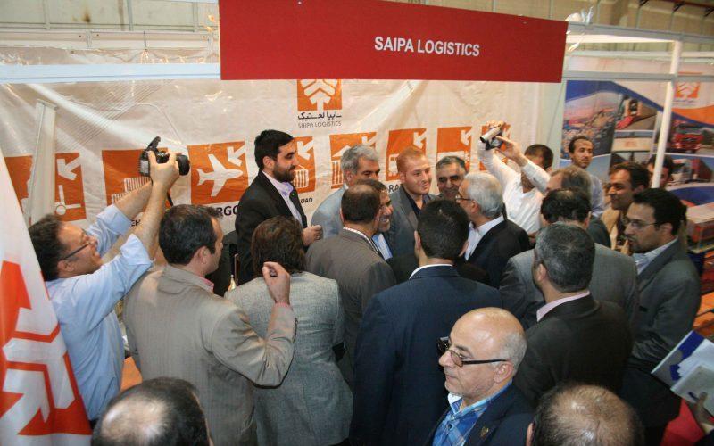 حضور سایپالجستیک در نمایشگاه بینالمللی حمل و نقل ریلی تهران