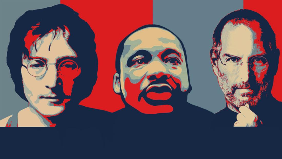 با چرا آغاز کنیم استیو جابز مارتین لوتر کینگ جان لنون پوستر