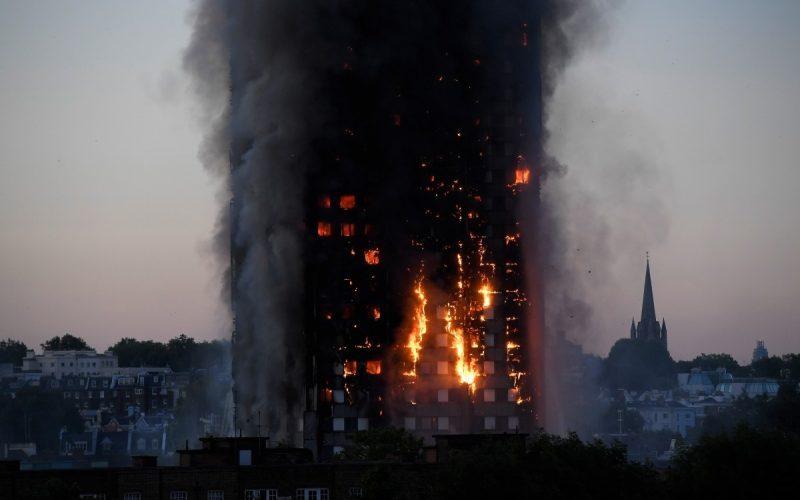 آتشسوزی در برج مسکونی لندن