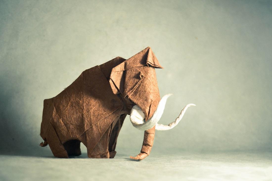فیل کاغذی اوریگامی خلاقیت