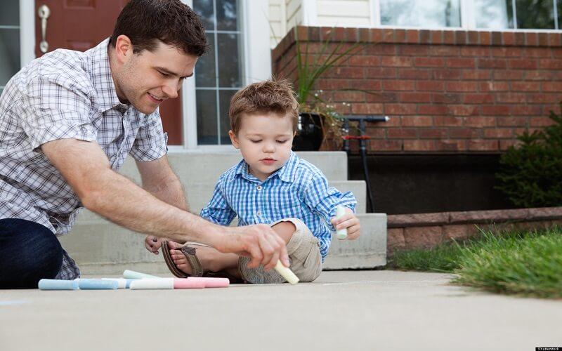 نقش پدر در تناسب اندام کودک