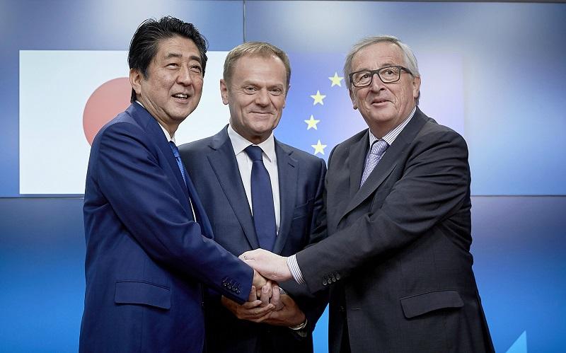 ژاپن و اتحادیه اروپا توافق تجارت آزاد امضا میکنند