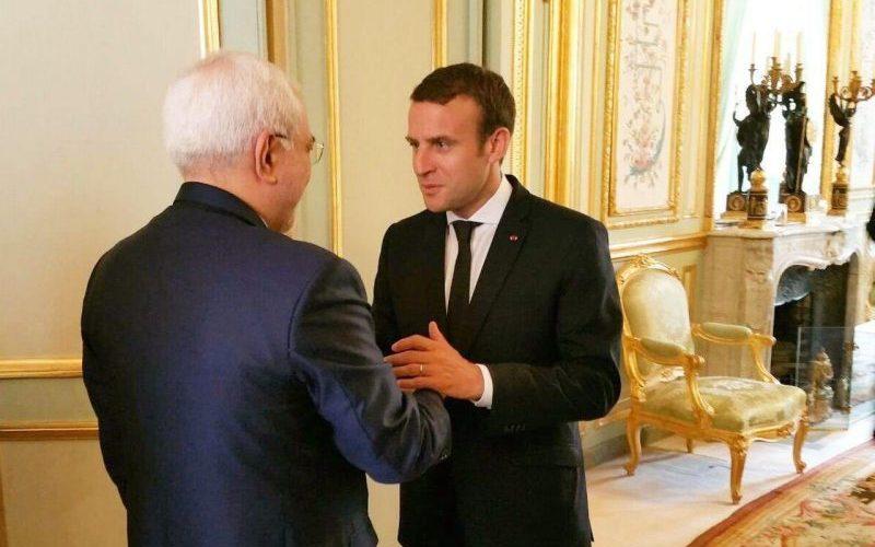 دیدار ظریف با رئیسجمهور فرانسه
