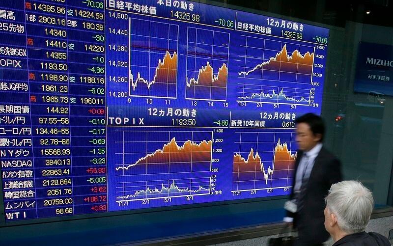 سهام آسیا افزایش یافت