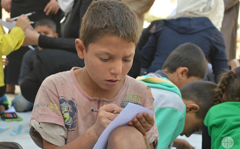 فائو به کودکان سوری درباره غذا آموزش میدهد
