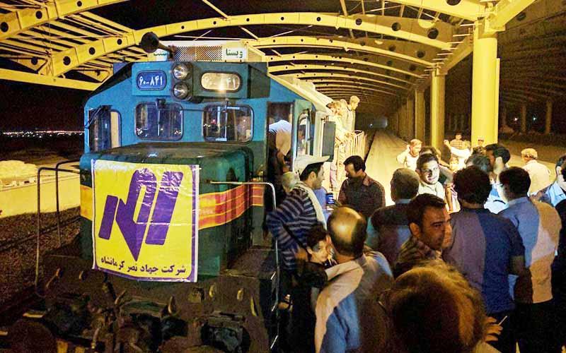 ورود اولین قطار به کرمانشاه