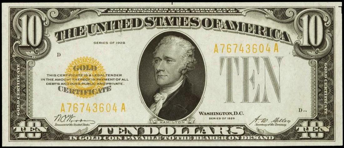 ده دلاری اسکناس قدیمی بانک مرکزی خلق پول