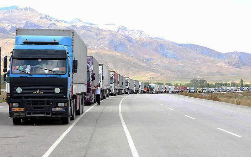 ۱۶۰ کامیون پشت مرز ایران و ترکیه ماندهاند