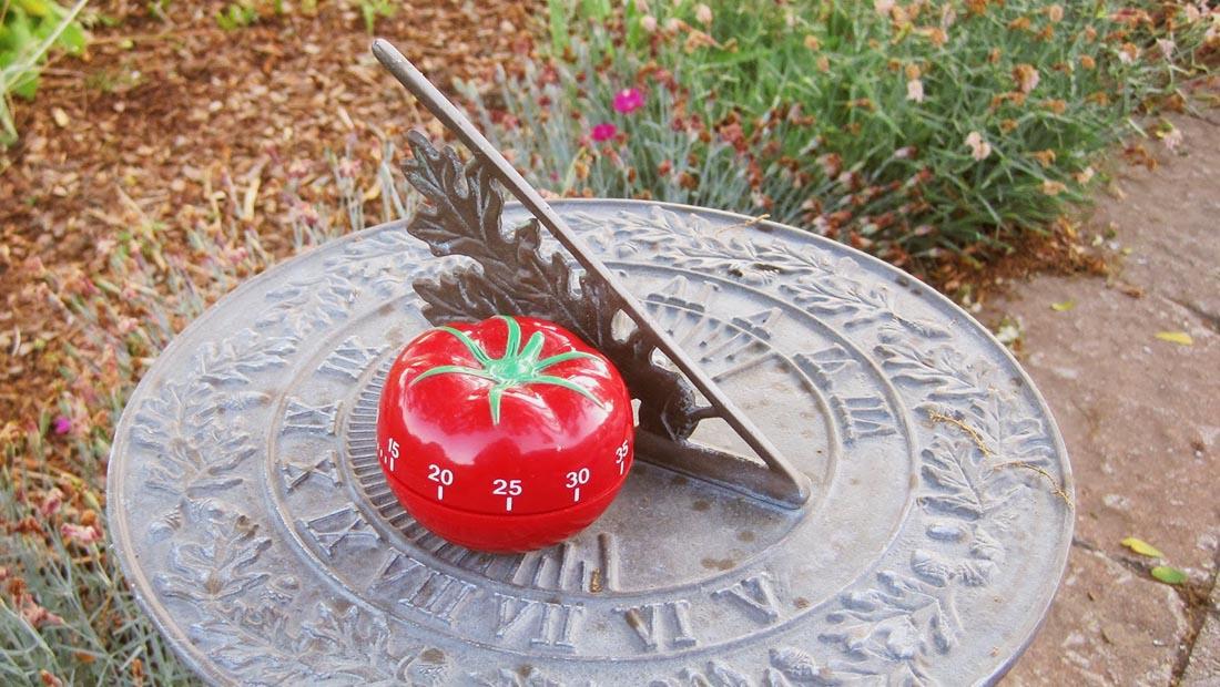 تکنیک پومودورو گوجه فرنگی ساعت تایمر