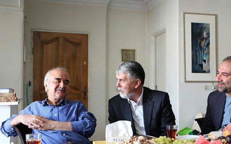 وزیر فرهنگ و ارشاد اسلامی با محمدرضا شفیعی کدکنی دیدار کرد