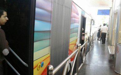 تبدیل اتوبوسهای پایتخت به زندان با نصب برچسبهای تبلیغاتی