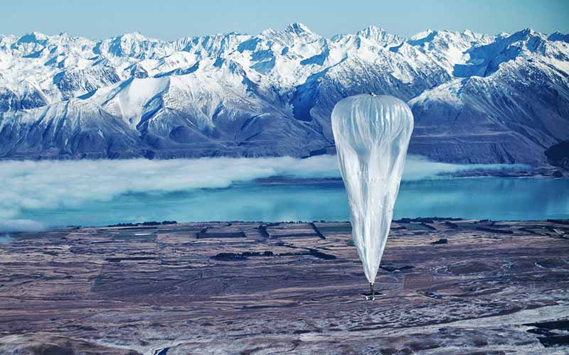 بالونهای نسل چهارم گوگل به آسمان رفتند
