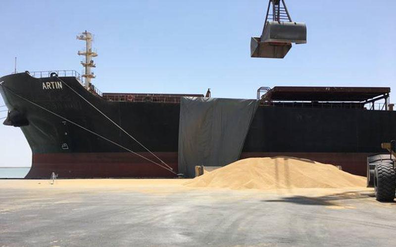 بارگیری دومین محموله گندم صادراتی ایران