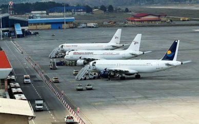 شرایط در فرودگاه کرمانشاه نرمال است