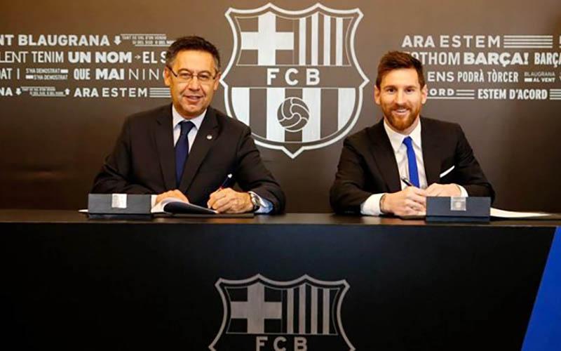تمدید قرارداد لیونل مسی با بارسلونا تا ۲۰۲۱