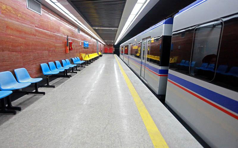 کاهش سرفاصله حرکت قطارهای مترو در خط ۲