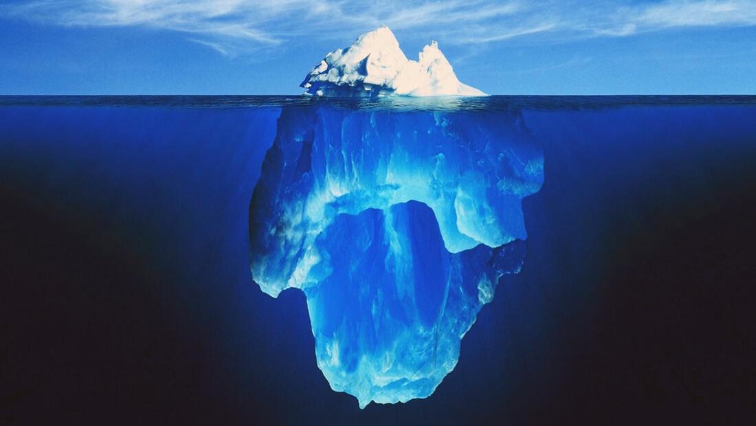آب مجازی کوه یخ