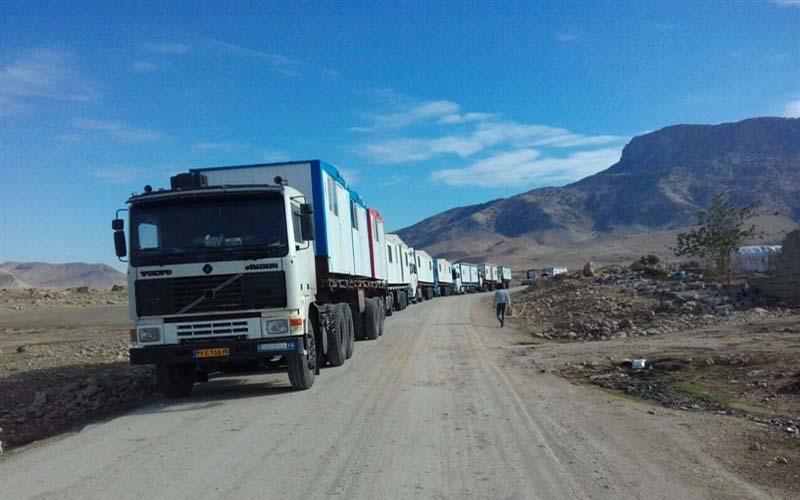 ارسال روزانه ۳۰۰ تا ۴۰۰ کانکس به مناطق زلزلهزده
