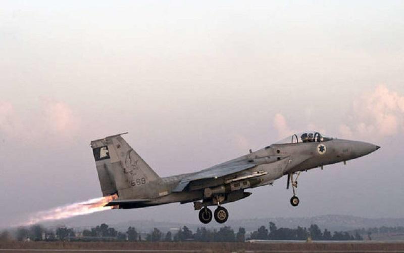 هدف قرار دادن یک مرکز نظامی حماس در غزه توسط جنگندههای صهیونیست