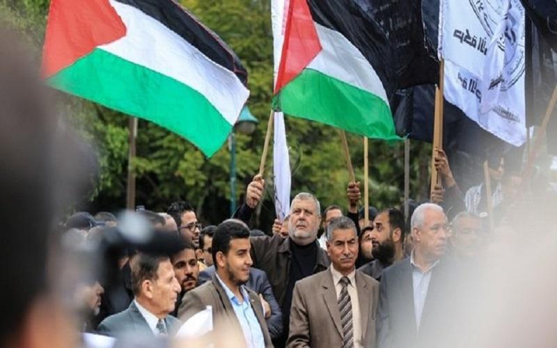 تظاهرات «روز خشم» در مناطق مختلف فلسطین آغاز شد