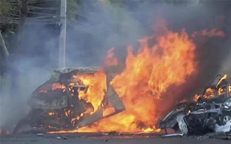3 سرنشین پژو،زنده در آتش سوختند