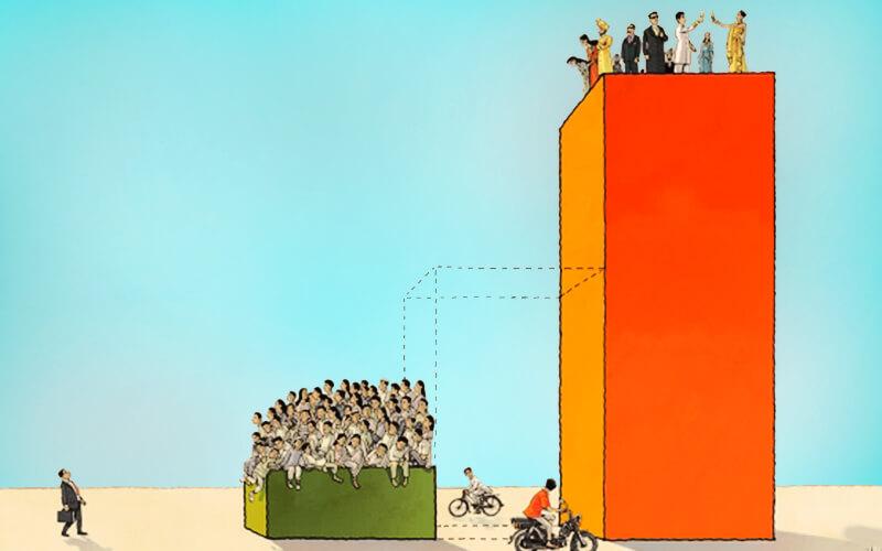 خلاء طبقه متوسط در شبه قاره؛ سقف اقتصاد هند ستون ندارد