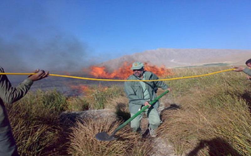 آتشسوزی تالاب گندمان مهار شد