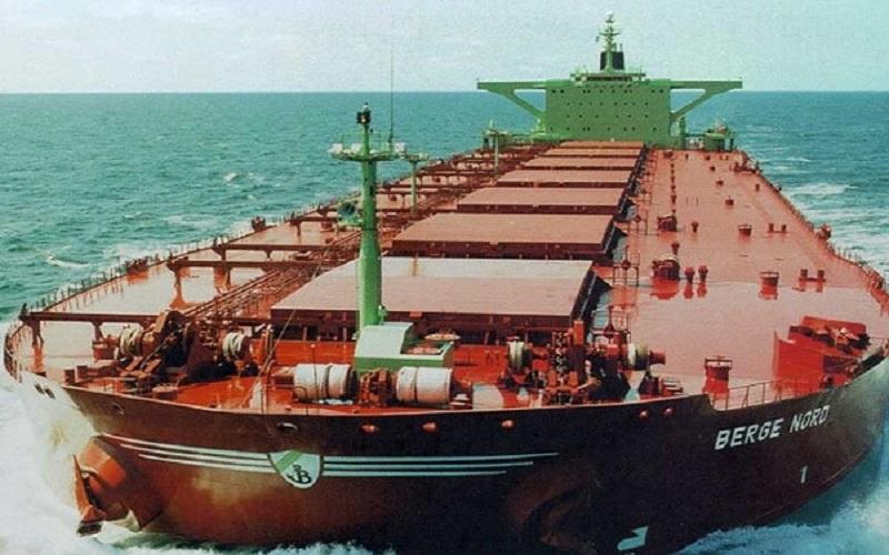 برخورد نفتکش ایرانی با کشتی چینی