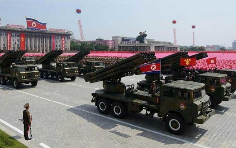 نمایش قدرت نظامی کرهشمالی قبل از المپیک زمستانی