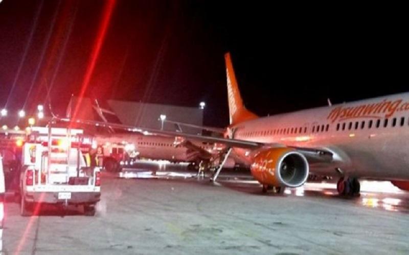 برخورد دو هواپیما در باند فرودگاه تورنتو