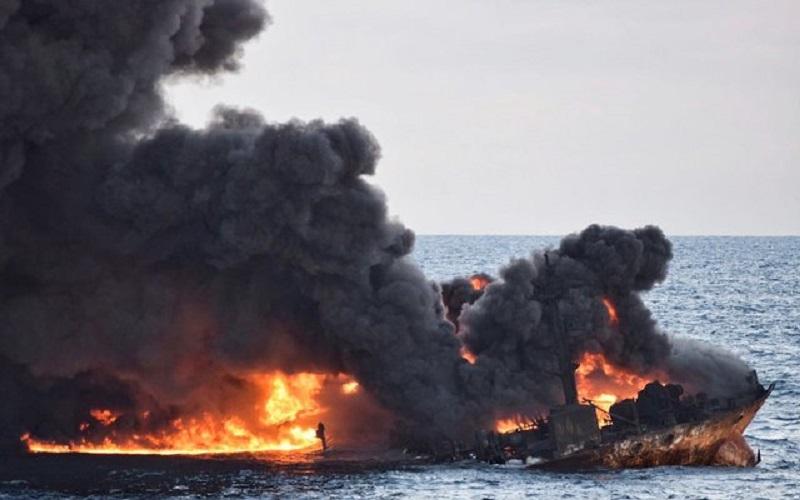 گسترش قابل توجه لکه نفتی سانحه سانچی