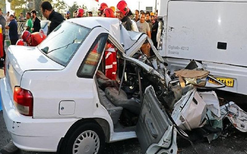در هر ساعت ۲،۵ نفر ایرانی بر اثر تصادف جان خود را از دست میدهد