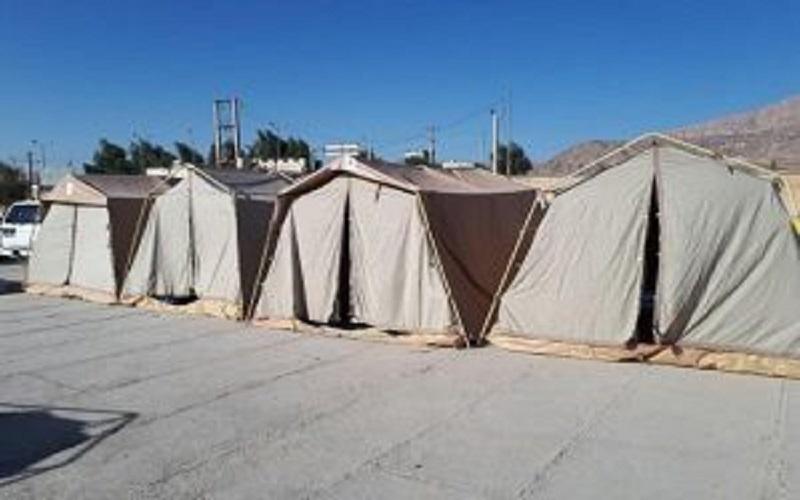 چادرهای زلزلهزدگان کرمانشاه آتش گرفت