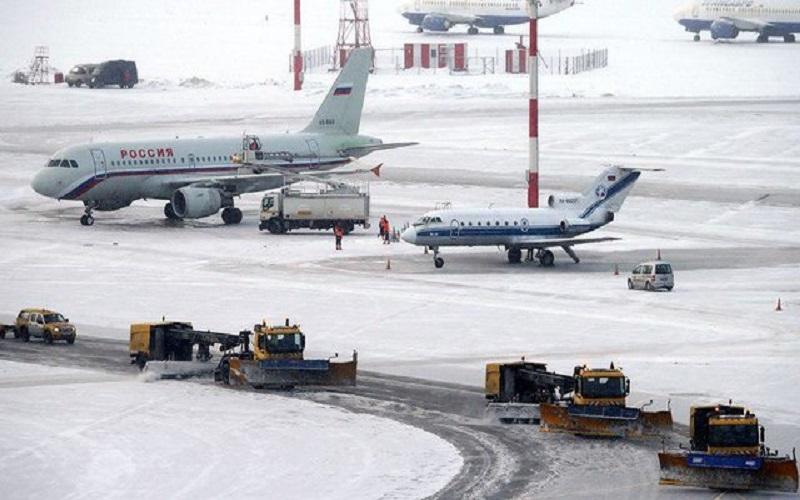 لغو پروازها در فرودگاههای بینالمللی مسکو