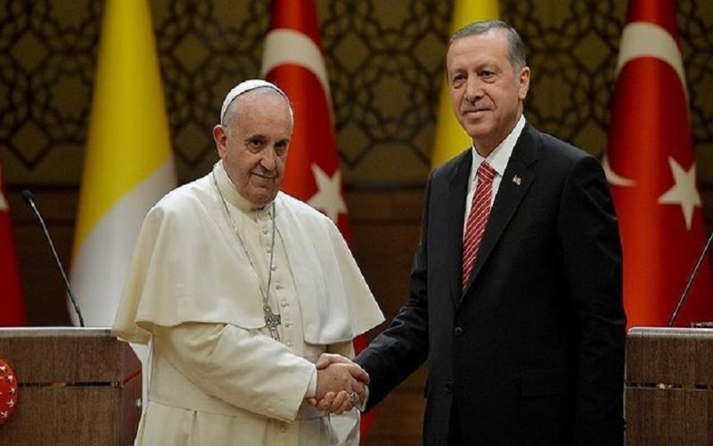 مذاکرات اردوغان و پاپ با محوریت اوضاع قدس