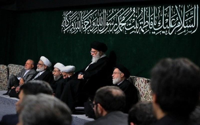برگزاری اولین شب مراسم عزاداری حضرت زهرا (س) با حضور رهبر انقلاب