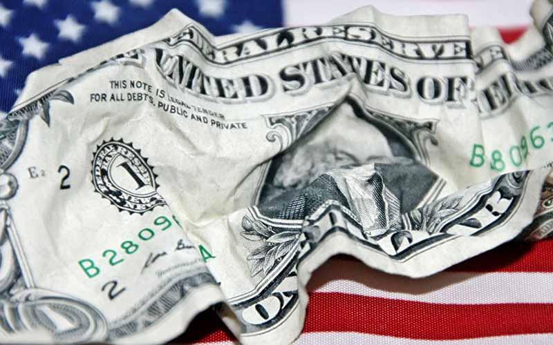 کسری بودجه آمریکا در فوریه رکورد زد