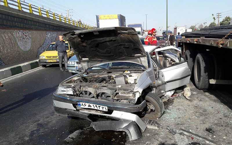 آمار تصادفهای جادهای کاهش یافت
