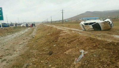 ۶ مصدوم در واژگونی خودرو در محور «الیگودرز – اصفهان»