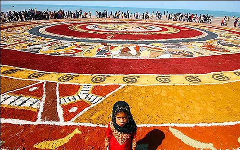 هفتمین فرش خاکی جزیره هرمز رونمایی میشود