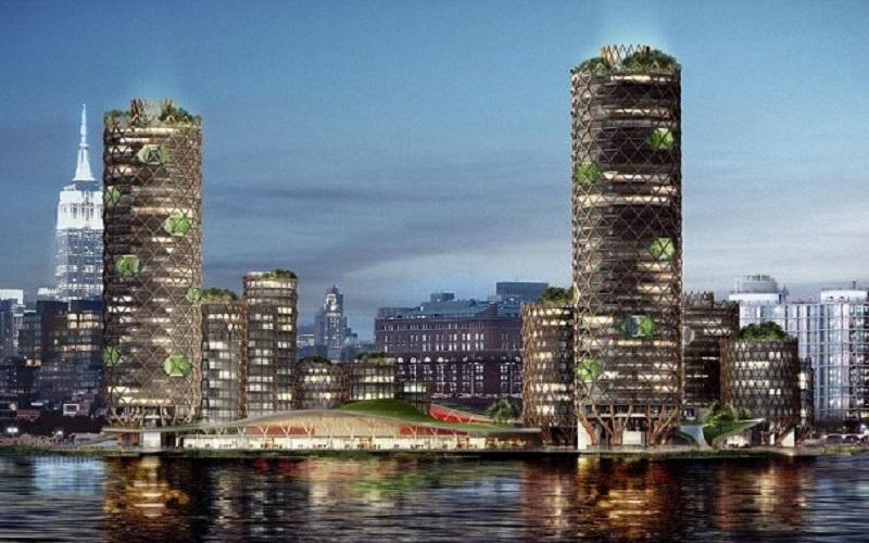 ساخت یک جزیره در نیویورک برای مقابله با افزایش سطح دریا