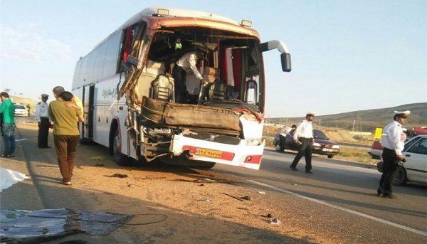 ۲۱ کشته در حادثه تلخ تصادف اتوبوس تهران- کرمان