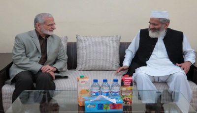 دیدار و گفتوگو خرازی با رئیس جمعیت اسلامی پاکستان